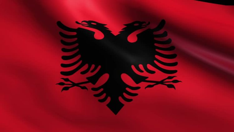 Albanian National Flag with Double Headed Eagle, Source- Shutterstock.com